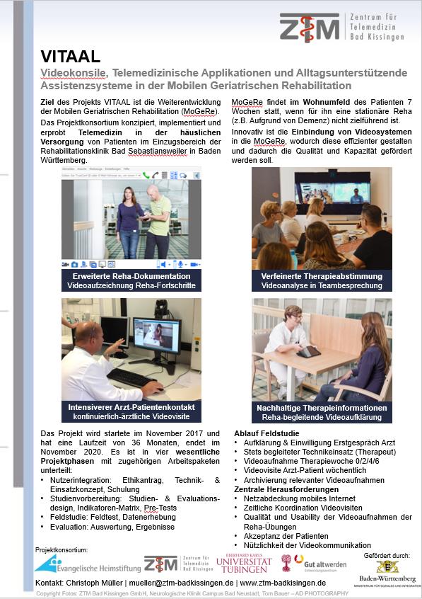 ZTM - - GMDS 2018: VITAAL für Videokonsil bei mobiler Reha